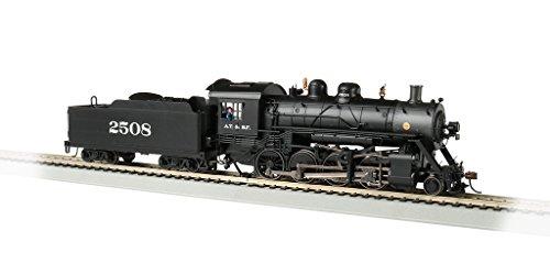 Bachmann Baldwin 2-8-0 DCC Sound Value Equipped Locomotive - Santa Fe #2508 - HO Scale, Prototypical Black ()