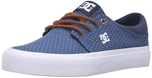 DC Trase TX SE Skate Shoe, Blue/Brown/White, 8.5 M US