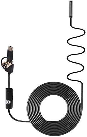 5M c/ámara de inspecci/ón de endoscopio USB c/ámara HD Snake 5.5Mm 6Led tubo de alcantarillado impermeable endoscopio 300,000 p/íxeles TOPmountain 3 en 1 boroscopio