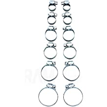 12Pc Assorted SMALL MEDIUM LARGE Hose Clamp Set Rust Resistant Zinc Plated PIPE CAR HOME