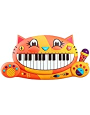 B Toys – Meowsic Toy Piano – Children's Keyboard Musical Instrument with Toy Microphone for Kids 2 Years +, BX1914C1Z