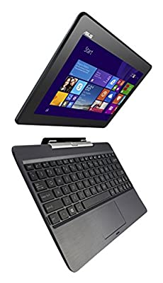 ASUS Transformer Book T100TAF-C1-GR 10.1-Inch 2-in-1 Touchscreen Laptop & Tablet, 64 GB Solid State Storage, 2 GB RAM (Free Windows 10 Upgrade)