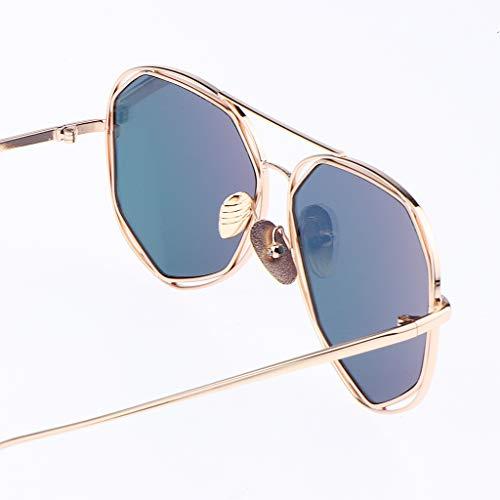 Vintage Baoblaze Club Shopping Uv400 Frame Pour Léger Steampunk Lunettes Protection Convient Soleil Plus Fête Voyage Rose Femmes Métal De Conduite xIqR1