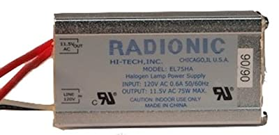 Radionic EL75HA Halogen Power Supply: Use with (1), (2), or (3) 20W