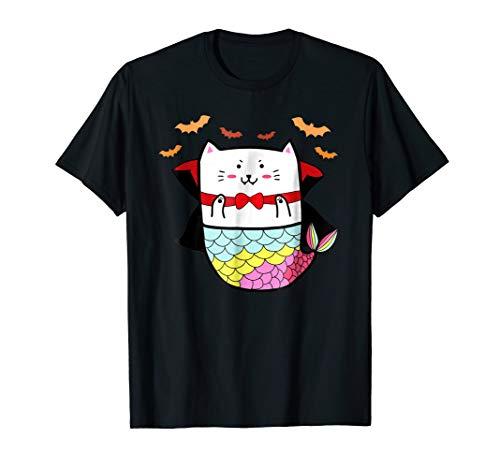 Funny Cute Cat Mermaid Halloween Animal Costume Gift Shirt for $<!--$14.99-->