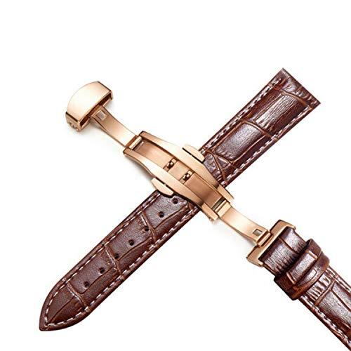 - Plus Genuine Leather Watchbands 12-24mm Universal Desallusa-Bands-205072 Watch Bands Butterfly Buckle Band Steel Strap Wrist Belt Bracelet