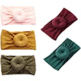 DANMY Baby Girl Nylon Headbands Newborn Infant Toddler Hairbands and Bows Child Hair Accessories (Nylon Donut43 (5pcs))