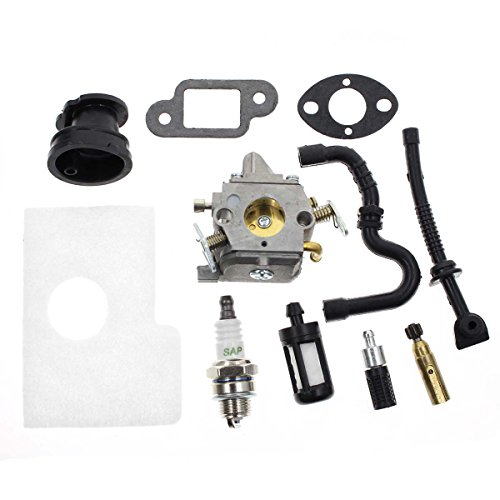 Carbhub MS170 Carburetor for Stihl MS170 MS180 017 018 Chainsaw with Air Filter Fuel Oil Line Spark Plug, Replaces C1Q-S57 C1Q-S57A C1Q-S57B 1130 120 0603, Stihl MS170 -