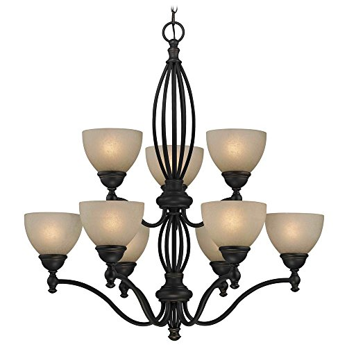 78 Bolivian Finish - Caramelized Glass Traditional Chandelier - Bolivian Finish