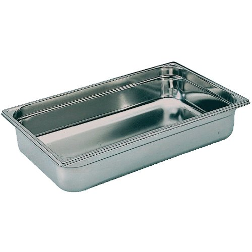 Bourgeat Stainless Steel Full Size Gastronorm Pan 100mm 1/1 full size. 100mm deep. 13.5 litre capacity. RBD-K048