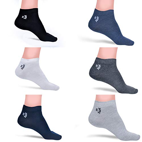 Tom & Gee® Men's And Women's Cotton Loafer Socks, Pack of 6 (Multicolour) Free size