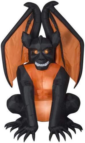 oldzon Inflatable 8' Airblown Gargoyle Halloween Yard Decoration with Ebook]()