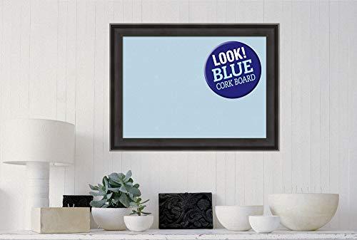 Amanti Art Blue Cork Allure Charcoal Framed Bulletin Boards by Amanti Art (Image #3)