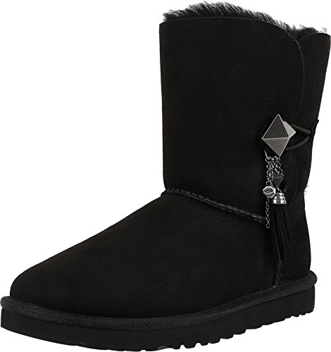 UGG Women's Lilou Black Boot 7 B (M) (Charms For Ugg Boots)