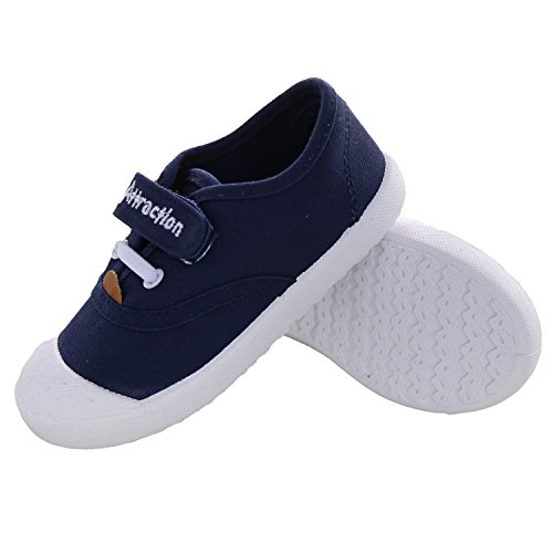 Yedi Candy Color Boys Girls Kids Toddler Canvas Casual Slip On Blue Unisex Hook and Loop Shoes