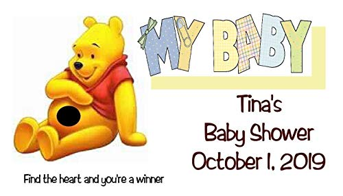 - Baby Shower Boy or Girl Winnie the Pooh Scratch Off Game Cards 40 Quantity