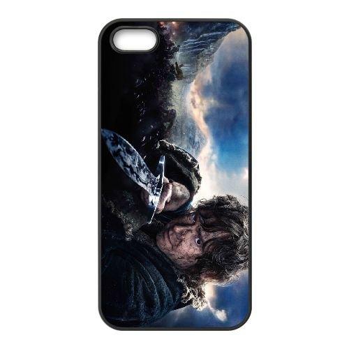 Bilbo Baggins 002 coque iPhone 4 4S cellulaire cas coque de téléphone cas téléphone cellulaire noir couvercle EEEXLKNBC23582