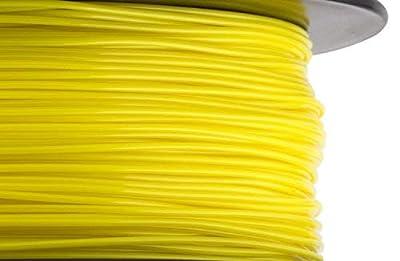 HATCHBOX PLA 3D Printer Filament, Dimensional Accuracy +/- 0.03 mm, 1 kg Spool, 1.75 mm, Yellow