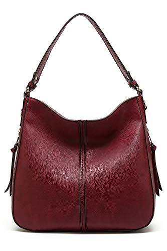 Leather Iowa - Style Strategy Iowa Hobo Bag (Burgundy - 17907)