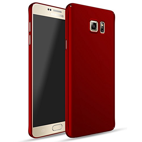Samsung Galaxy Note 5 Case Cover, Moonmini Slim Fit Ultra-thin Hard PC Full Body Protection Smooth Grip Back Case Cover Holder for Samsung Galaxy Note 5 (Red)