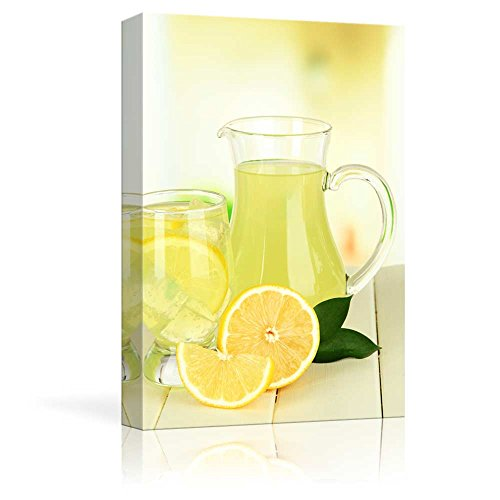 Delicious Lemonade on Table on Light Background Wall Decor ation