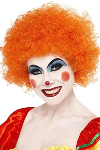 Smiffys Women's Crazy Clown Wig, Orange, One Size]()
