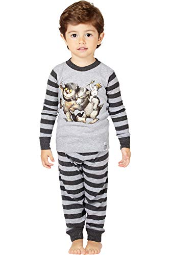 Where the Wild Things Are Toddler Boys' Wild Things Bookjama Pajama Set, Gray, 3T -