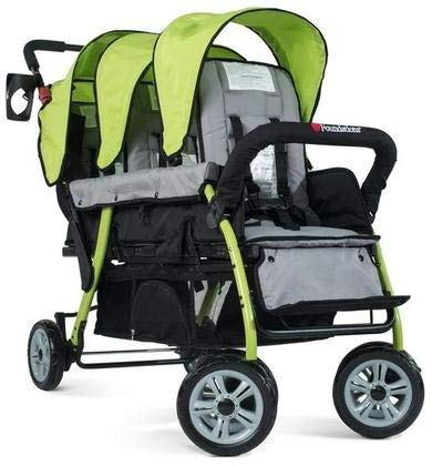 Foundations The Trio Sport Triple Tandem Stroller, Lime