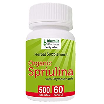 Amazon.com: Bhumija Lifesciences Organic Spirulina Capsules 60 ...