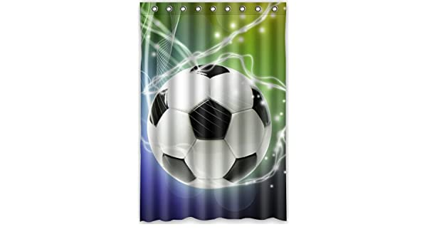 Amazon Popular Design Football Shower Curtain 48w X 72h Generic Liners Home Kitchen