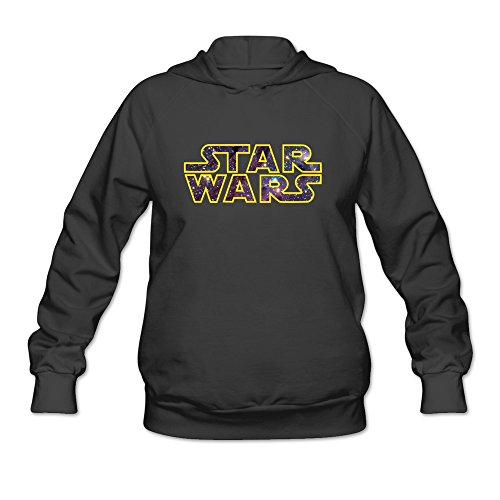 AOPO Star Wars LOGO Women's Long Sleeve Hooded Sweatshirt / Hoodie Small Black (Princess Leia Costume Ideas)