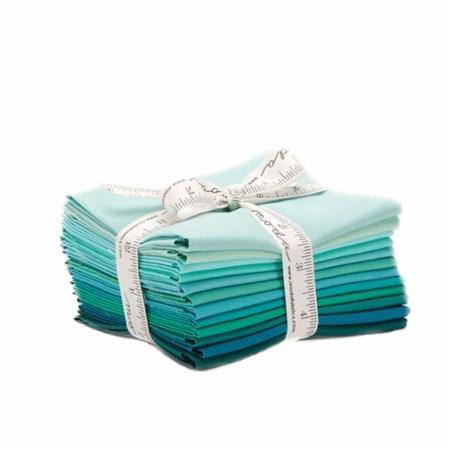 Bella Solids Teal 12 Fat Quarters Moda Fabrics 9900AB 127