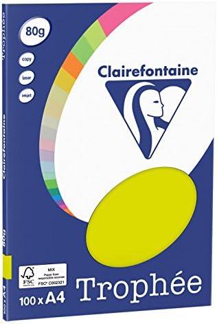 Clairefontaine Papier Kopierer Trophee A480g/m² 100Blatt A4, 21 x 29.7 cm orange