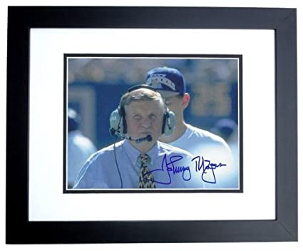 1cfee8979 Image Unavailable. Image not available for. Color  Johnny Majors Autographed  Photo - Pitt Panthers ...
