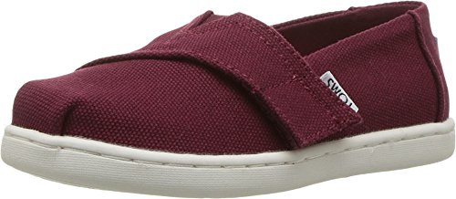 TOMS Kids Baby Boy's Alpargata (Infant/Toddler/Little Kid) Burgundy Canvas Shoe ()
