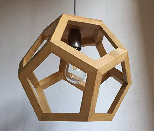 ALBIORIX pendant lamp in ash wood, table lamp, dodecahedron ()