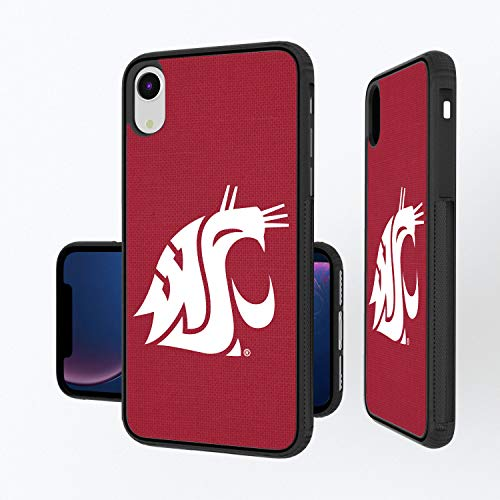 Keyscaper KBMPXR-0WST-SOLID1 Washington State Cougars iPhone XR Bump Case with WSU Solid ()