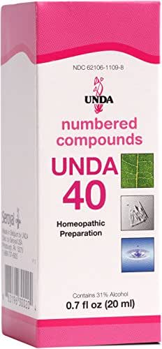 UNDA - UNDA 40 Numbered Compounds - Homeopathic Preparation - 0.7 fl oz (20 ml)