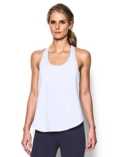 Under Armour Women's UA Essential Racer Tank X-Large White