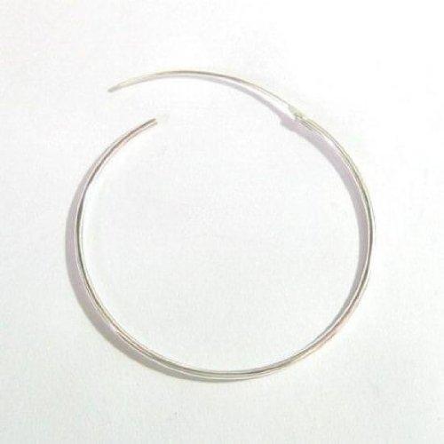 Dreambell 2 Pcs 925 Sterling Silver Ear Wire Plain Hoop