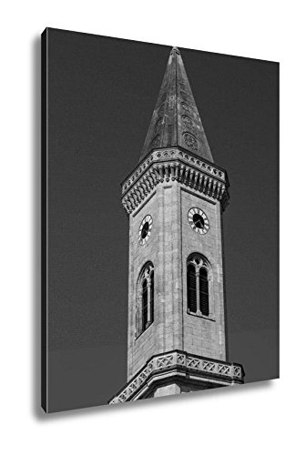 Ashley Canvas Catholic Parish And University Church Ludwigskirche In Munich G, Home Office, Ready to Hang, Black/White 25x20, AG6544606 by Ashley Canvas