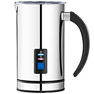 Chef's Star MF-2 Premier Automatic Milk Frother, Heater and Cappuccino Maker with New Foam Density Feature (New Version)