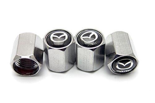 4x Chrome Metal Tyre Tire Valve