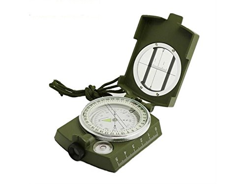 Yuchoi Solid Compass Multifunction Compass Outdoor Navigation Tools for Hiking and Camping (Army Green) by Yuchoi