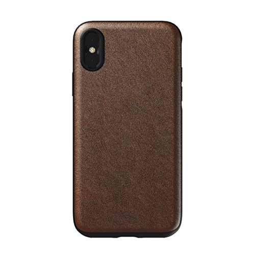 Nomad Rugged Case for iPhone Xs | Moment Lens Edition | Rustic Brown Horween Leather