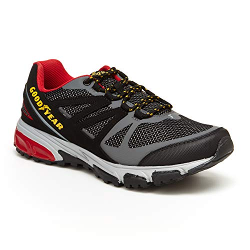 Goodyear Low Top Men's Hiking Boots, Hiking Shoes for Men Black/Red