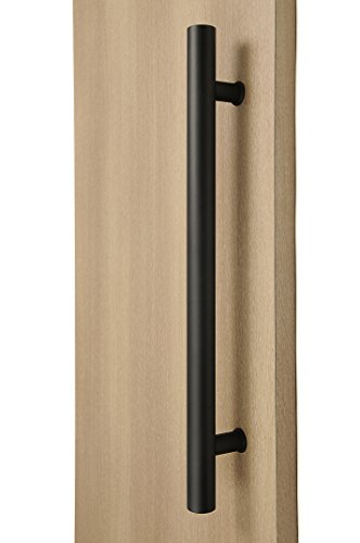 STRONGAR Modern & Contemporary Round Bar/Ladder/H-shape Style 610mm/24 Inches Push-pull Stainless-steel Door Handle - Matte Black Powder Finish