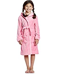Kids Robe Boys Girls Solid Hooded Fleece Sleep Robe Bathrobe (2 Toddler-14  Years 4bc6fd12f