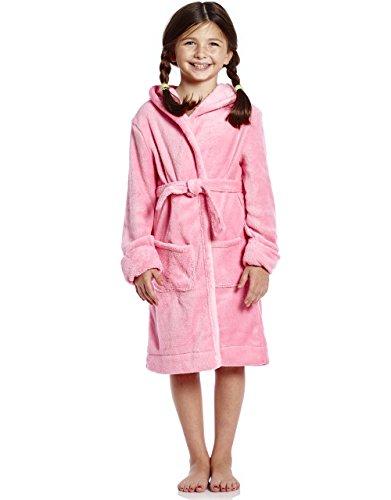 Leveret Kids Robe Fleece Sleep Girls Robe Light Pink Size 8 Years