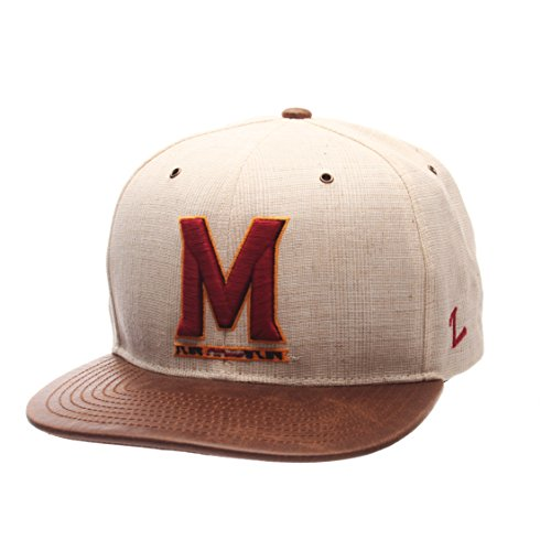 - Zephyr NCAA Maryland Terrapins Adult Men's Havana Snapback Hat, Adjustable Size, Ivory/Dark Brown